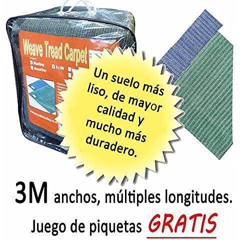 Recubrimiento de suelos 3m de exterior para cenadores, suelos transpirables de lona para tiendas de campaña, festejo (3m x 3m Azul)