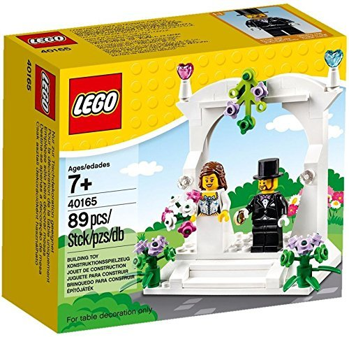 Lego 40165 bomboniera matrimonio sposi per torta