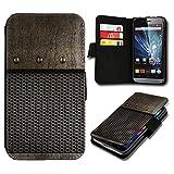 Book Style Wiko Fizz Premium PU-Leder Tasche Flip Brieftasche Handy Hülle mit Kartenfächer für Wiko Fizz - Design Flip SB3