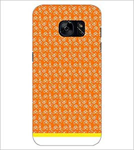 PrintDhaba Cycle Pattern D-1483 Back Case Cover for SAMSUNG GALAXY S7 (Multi-Coloured)