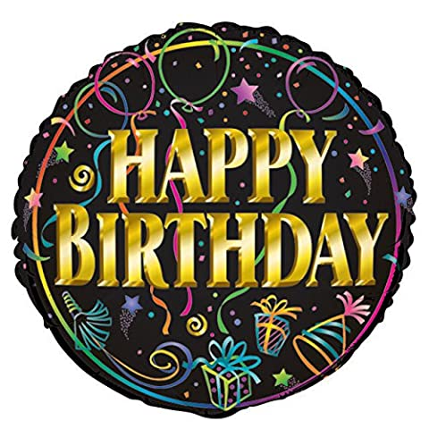 45,7cm Folie Brilliance Happy Birthday