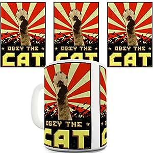Obey chat fantaisie Funny Café Tasse à thé