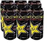 Rockstar Bebida Energética Ligeramente Carbonatada - 500 ml - [Pack de 6]