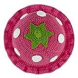 AKUNSZ Bonnet Bébé Fille Garçon Chapeau Hiver Printemps Tricot Crochet Chapeau Chaud pour Enfant, fraise rose, fait main, Tour de tête: 40-44cm