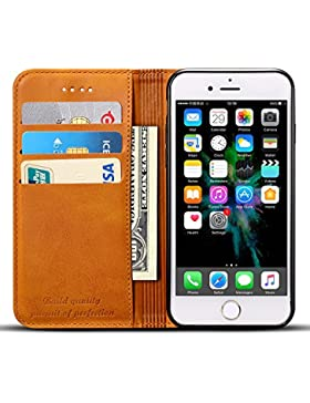 [Patrocinado]Funda cartera de Iphone 6 6S 7 7Plus 8 Samsung Galaxy S8 Plus con una solapa para llevar tarjeta de credito y...