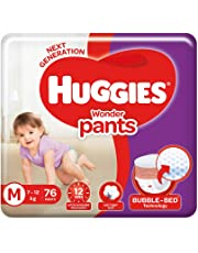 Huggies Wonder Pants Diapers, Medium (Pack of 76)