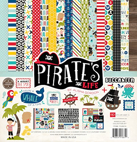 ECHO PARK Paper Collection Kit 12Zoll x 12-inch-pirates (Kit Pirate)