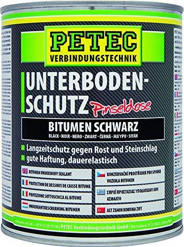 Petec 73100 Unterbodenschutz schwarz Pinseldose 1 Liter