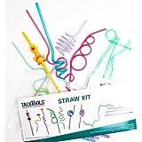 TALK TOOLS LLC Straw Kit with 8 Different Straws (Multicolour)