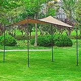 Lo Quik Shade Gazebo è dotato di un robusto telaio in metallo e un tenda di poliestere. Adatto come parasole. Materiale di montaggio compreso! Resistenza antigelo, robusto e stabile.