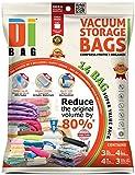 Bolsas de almacenamiento al vacío DIBAG®, 3XL, 4L, 4M, 3bolsas de viaje, con sellado doble, para ropa, ropa de cama, 14 unidades