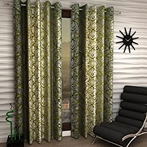 Home Sizzler Set of 4 Long Door Curtains - 9 Feet Long