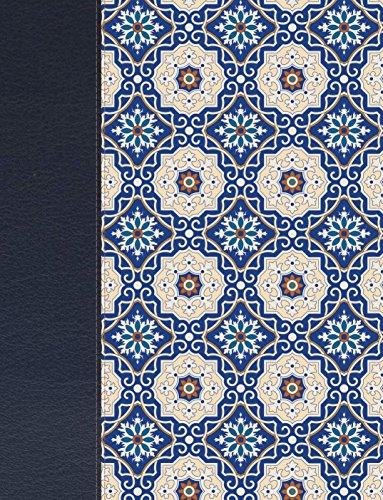 Rvr 1960 Biblia de Apuntes, Piel Fabricada y Mosaico Crema y Azul (Biblia Rvr 1960)