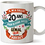 Mugffins Mug/Tasse Joyeux 20 Anniversaire - Il m'a Fallu 20 Ans pour Devenir Aussi Génial et Presque Parfait - Cadeau Origina