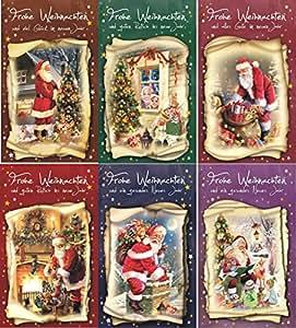 Weihnachtskarten 100 st ck mit weihnachtsmotiven elektronik - Weihnachtskarten amazon ...