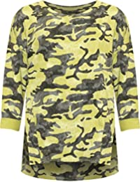WearAll Women's Plus Camouflage Multi Print Baggy Long Sleeve Tops New Ladies Sweatshirt 16-26