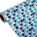 Yenhome Badezimmer Blau Abnehmbare PVC Wandtattoo Küche Wasserdicht Selbstklebende Tapete Mosaik Fliesen Aufkleber Wand Aufkleber Home Decor