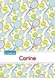 Le cahier de Carine - Blanc, 96p, A5 - Tennis