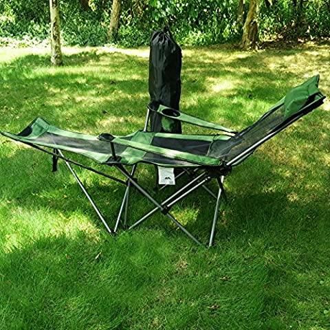 GUMO-Folding recliner, fishing chair, lunch break chair, self driving chair, beach, camping, portable, outdoor,Green,