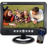 """Pyle PLTV1053 Portable TV Tuner Monitor Display Screen With Built-in Rechargeable Battery, USB/Micro SD Readers (Analog Atsc/Dtv Support), 10"""", Black"""