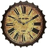 Regal Art & Gift Bottle Cap Wall Clock, Cafe du Parc