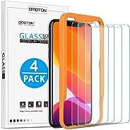 [4 Stück] OMOTON Schutzfolie für iphone 11 pro und iphone X und iphone XS Mit Positionierhilfe Panzerglasfolie für iphone 11