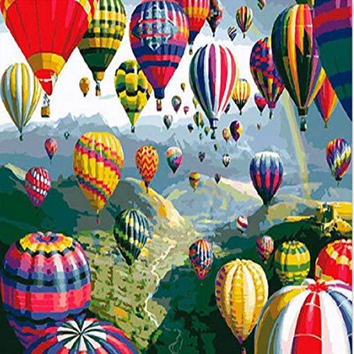 �luft-Ballon-Rahmenloses DIY Ölgemälde Mit Digital-Inneneinrichtungs-Wohnzimmer 40X50cm ()