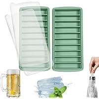 LessMo bâton bac à glaçons, silicone, avec couvercle, idéal pour les sports et les bouteilles d'eau, 10 cavités (lot de…