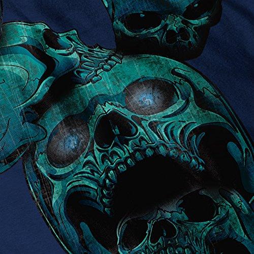 Böse Metall Gruselig Schädel Blut Teufel Damen S-2XL Muskelshirt | Wellcoda Marine