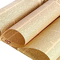 ACAMPTAR 30 Pcs/Lot Gift Wrapping Paper Roll Vintage Newspaper Double Sided Wrap Decor Art Kraft for Christmas Party Material