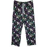 Men's DC Joker All Over Print Black Lounge Pants Pyjama Bottoms