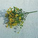 display08Kunstpflanze Gladiolen Flower Bloom Home Hochzeit Party Office Decor gelb