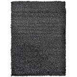 """Extra grande alfombra pelo largo bolas de 5cm de grosor suave Shaggy área alfombra moderna alfombra alfombras de salón o dormitorio (160x 230cm (5""""3"""" x77""""), color gris/antracita)"""