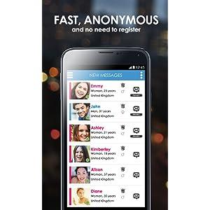 Nouvelle application de rencontres anonymes