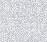 A.S. Création Vliestapete Porto Tapete Ethno Look 10,05 m x 0,53 m grau Made in Germany 341455 34145-5