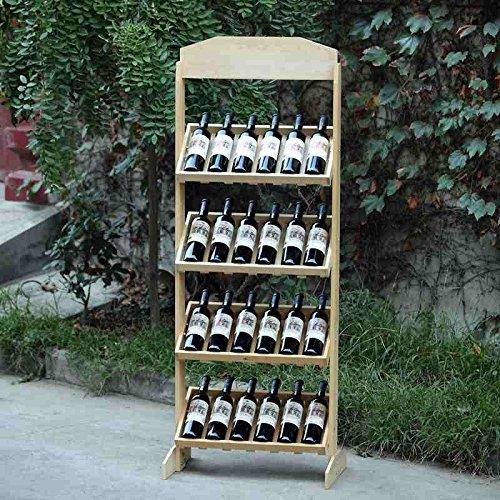 JPJIUJIA Kreative Weinregal Kiefer Weinregal Weinregal Display Stand Log Weinkühler Persönlichkeit...