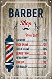 The Metal Sign Shack Barber Shop Sign Metal Tin Vintage Decoration Home Salon Wall Door Plaque 1036