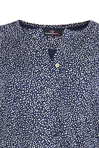 & # 10084; Kurt kölln Chemisier pour femme T-shirt points & # 10084; Bleu - Bleu marine