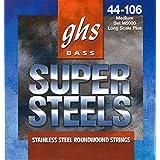 GHS Strings M5000 Super Steels Stainless Steel Bass Guitar Strings, Medium