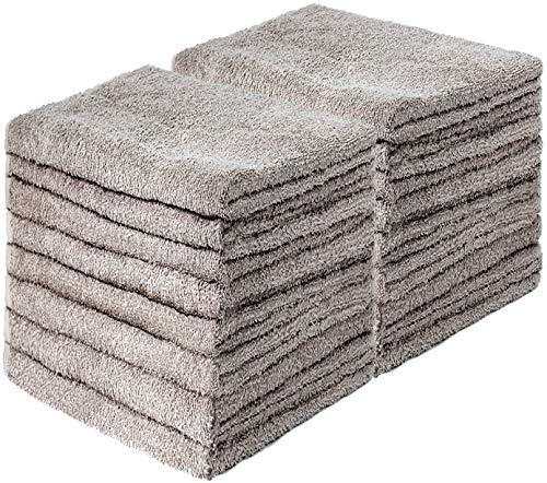 20er Pack Frottier Gästetücher mit Aufhänger 30x50cm GÄSTETUCH GÄSTE-Handtuch Farbe: Sand/Beige ()
