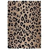 Lalee Joy 113 - Alfombra de lana, diseño de leopardo