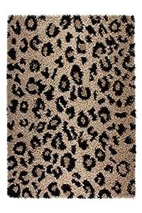 Lalee  347145768  Designer Hochflor Shaggy Teppich / Weich / Muster : Leopard / TOP Preis / Braun / Grösse : 80 x 150 cm