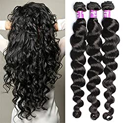 6 A Brazilian Virgin Hair 3 Bundle 50 G/Pcs Loose Wave Human Hair Virgin Hair Extension Unprocessed Brazilian Virgin Hair