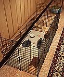 Koossy Stahlgitter DIY Freigehege erweiterbarer Laufstall Welpenauslauf für Kleintiere wie Hase, Kaninchen, Meerschweinchen, Katze und Welpe, 24 Platten, Schwarz