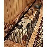 [Gesponsert]Koossy Stahlgitter DIY Freigehege erweiterbarer Laufstall Welpenauslauf für Kleintiere wie Hase, Kaninchen, Meerschweinchen, Katze und Welpe, 24 Platten, Schwarz
