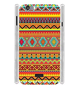 Tribal Orange Pattern Soft Silicon Rubberized Back Case Cover for Oppo Neo 5 (2015)