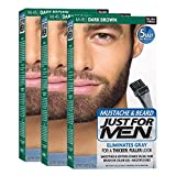 Just For Men M45 Moustache and Beard Facial Hair Color Dark Brown