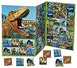 Gedächtnis Spiel - Dinosaurier T-Rex Dinos - zum Ausschneiden Dino - für Jungen Bastelset Memo Spiel Gedächtnisspiele Kinder / Kartenspiel Karten - Memo