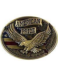 Sharplace Buckle Belt Boucle de ceinture Style Western Cowboy Motif Aigle  American Pride Accessoires Déco de a5f16ab3753
