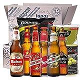Tapas Box degusta Cerveza mit Bier, Oliven und Chips